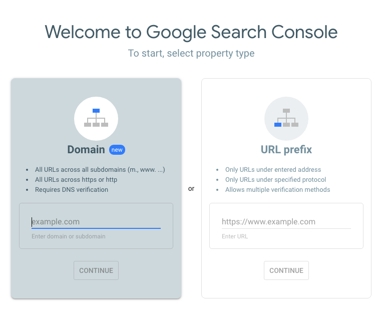 Bare Minimum SEO for Beginners: Google Search Console Screen