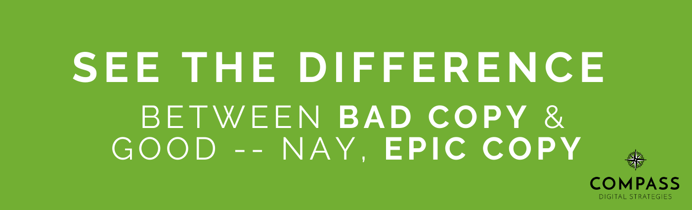 See the difference between bad copy and epic copy header image.