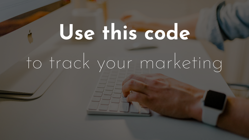 Use this code to track your marketing