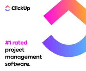 Digital marketing tool logo for ClickUp.