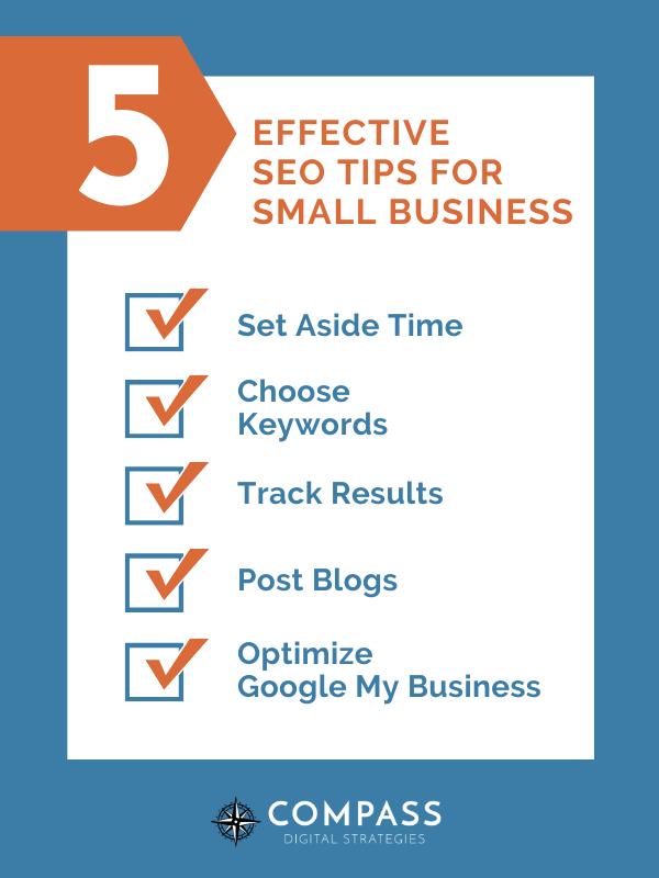 5 effective SEO tips infographic