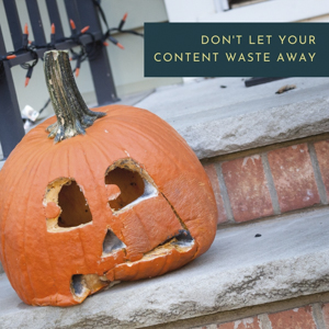 Wasted pumpkin on front porch steps.